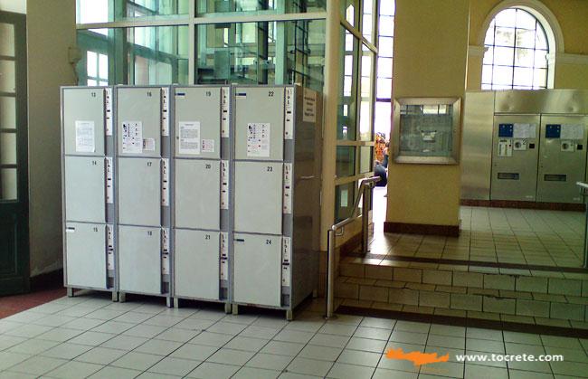 камера хранения на станции Монастираки