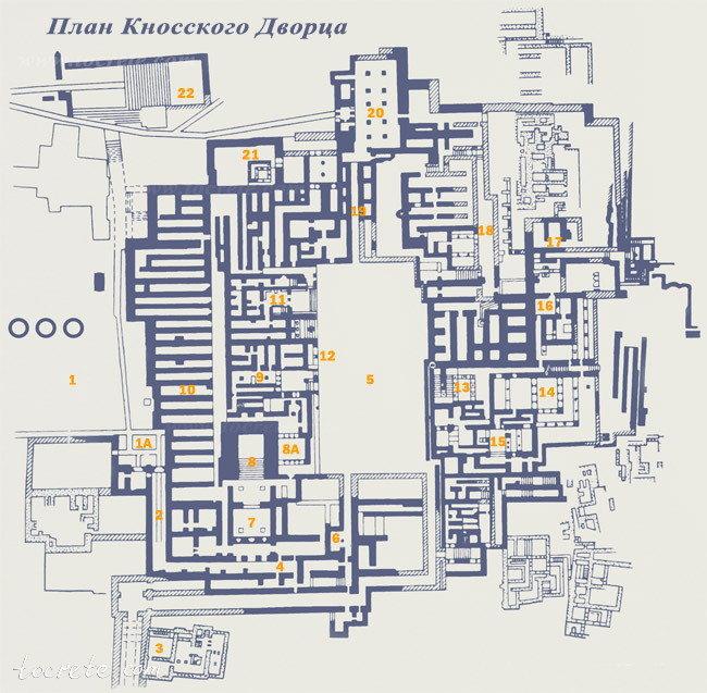 Схема Кносского Дворца