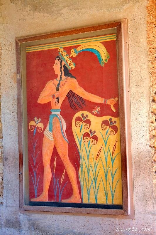 Кносский дворец - Принц с лилиями