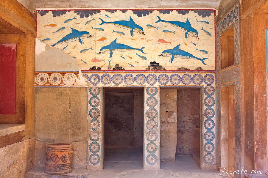 Мегарон Царицы с фреской